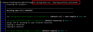spring boot profiling