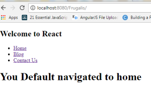 React JS Tomcat
