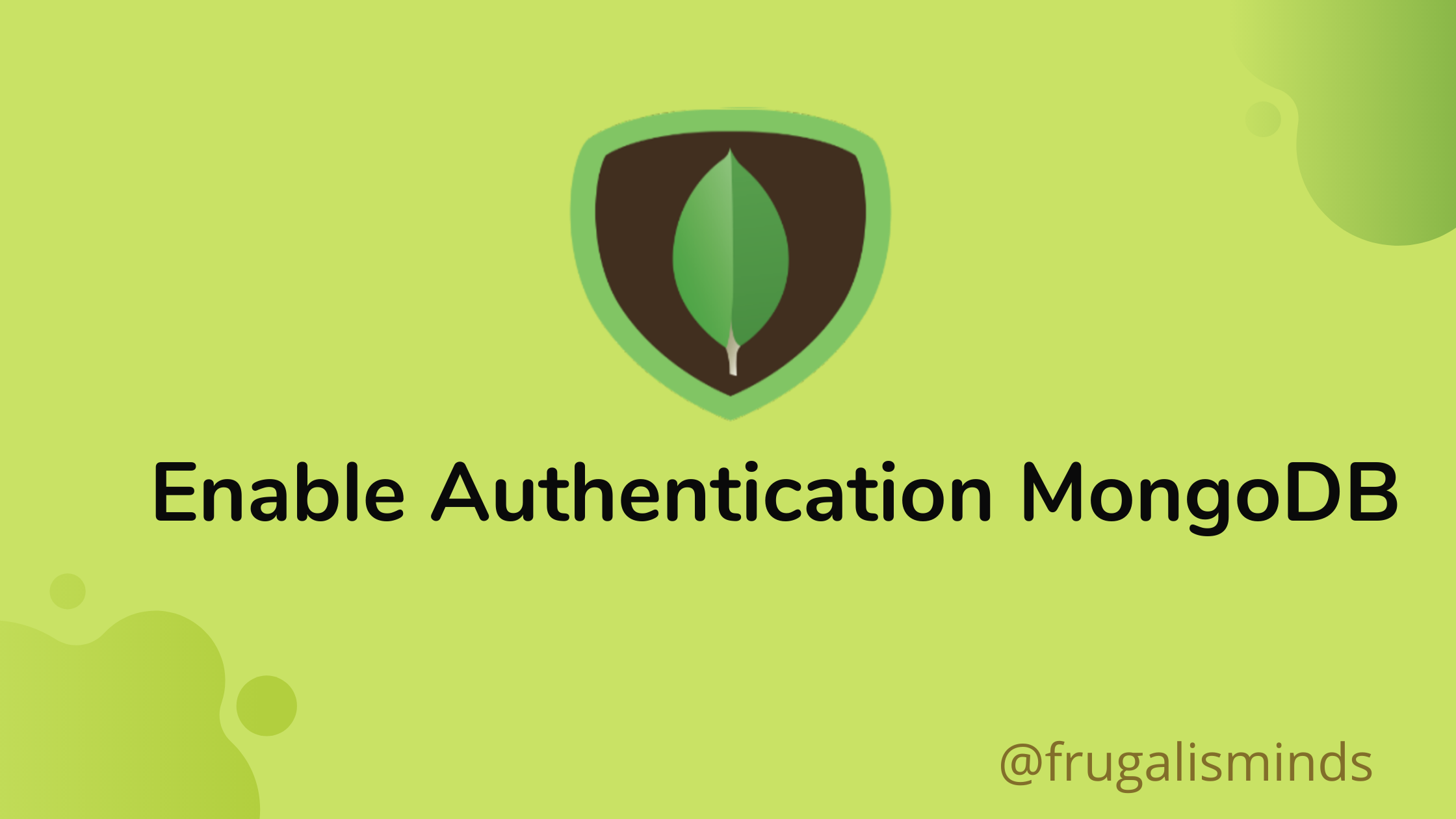 Enable Authentication in MongoDB