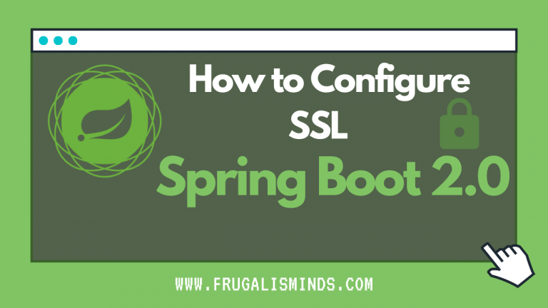 SSL Configuration Spring Boot 2.0
