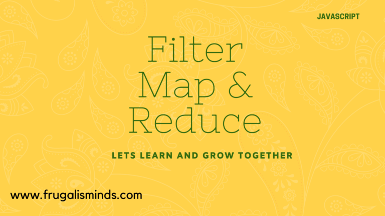 Javascript Filter , map and reduce