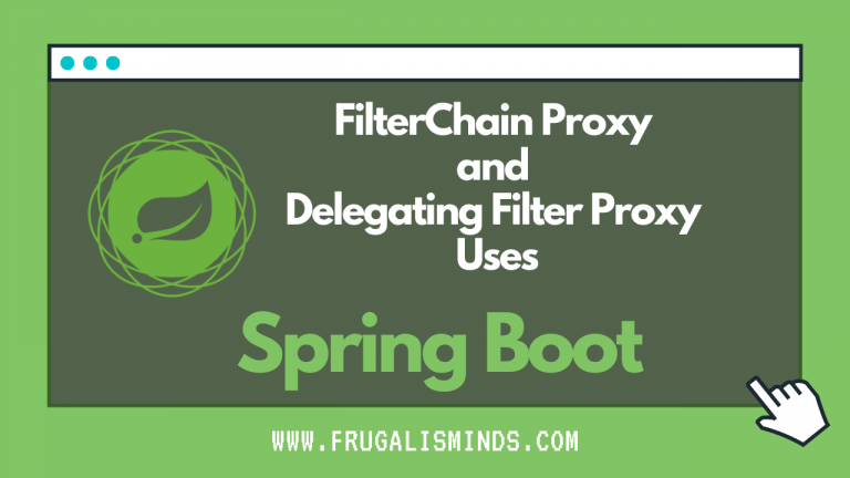 FilterChainProxy and DelegatingFilterProxy Uses