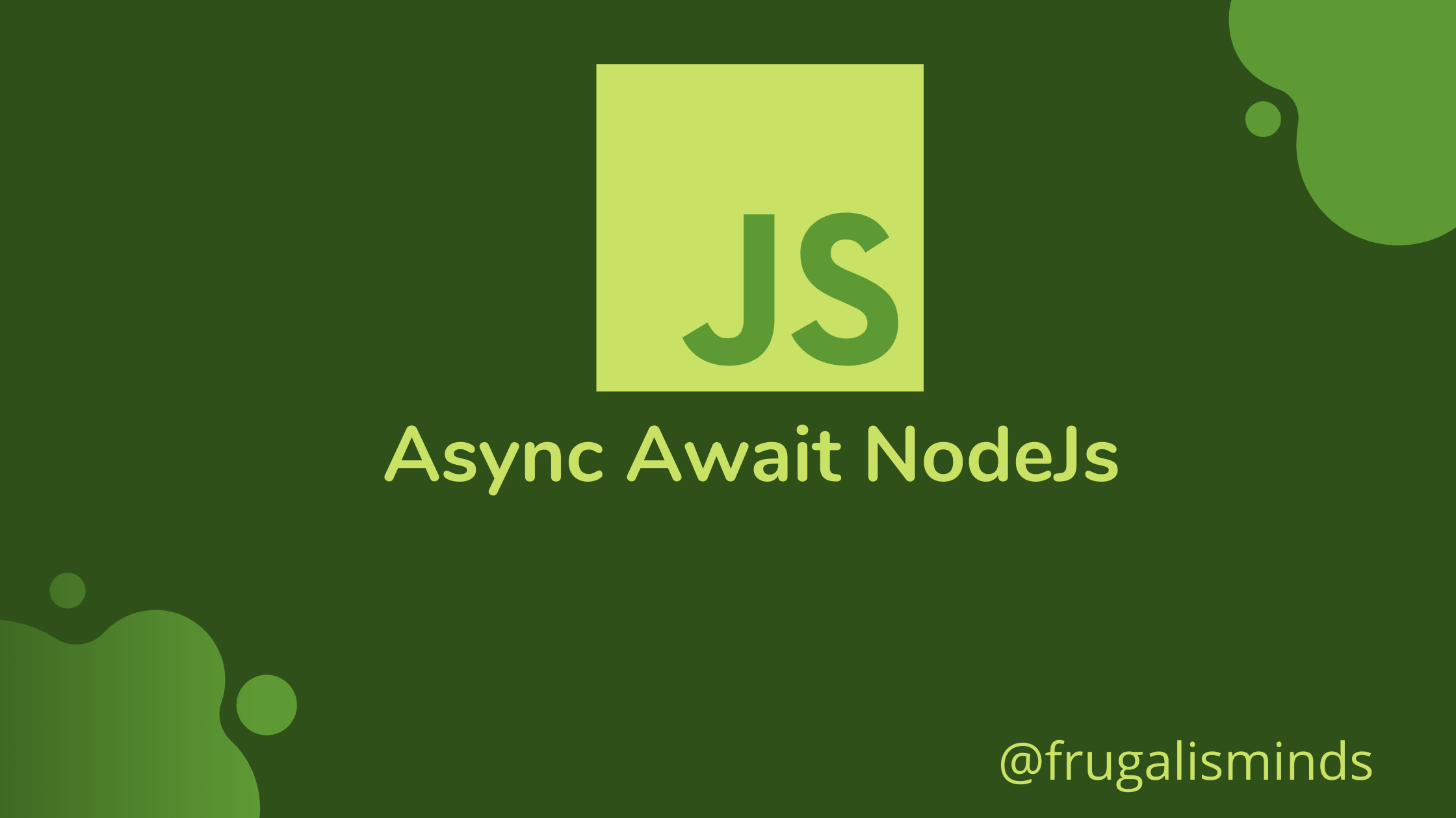 async await in Nodejs