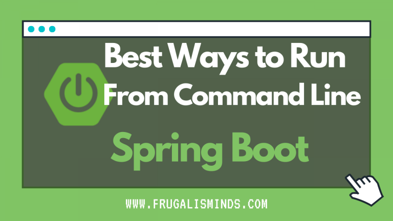 run spring boot from command line