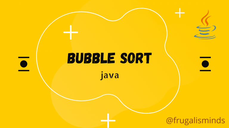 Bubble Sort Java Example