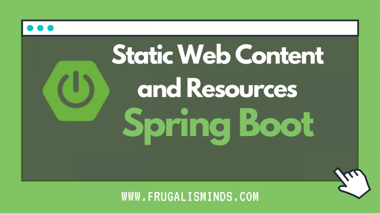 Spring boot static html